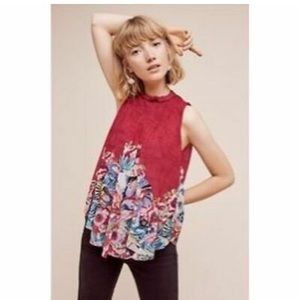 Anthropologie Deletta red swing top